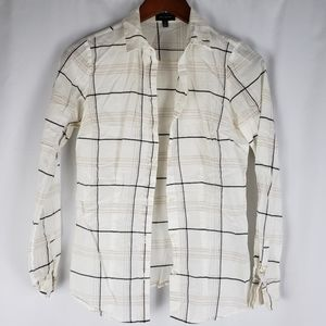 The Limited Plaid Button Down XS Tall
